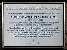 Berliner Gedenktafel am Haus, Charlottenstraße 33, in Berlin-Mitte (Quelle: Wikimedia)