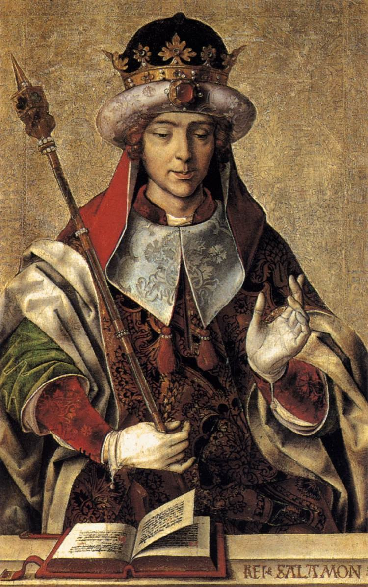 Salomon, portrait de Pedro Berruguete réalisé vers 1500.