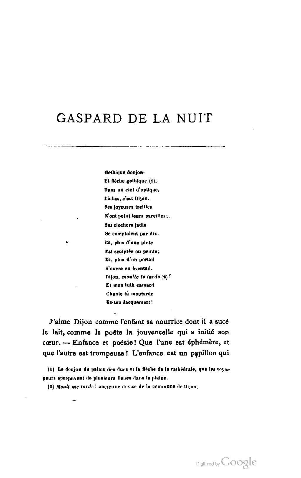 Pagebertrand Gaspard De La Nuit éd Asselineau 1868