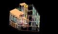 Bibliototeca d'Arenys de Mar. Representació filamentosa. Edifici Can Juncosa..tif