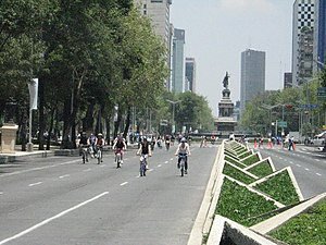 BicycleSundayPaseoReformaDF