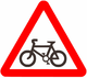 Bicycle traffic (Israel road sign).png