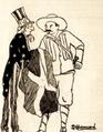 Biemvenido Gimbernard Concho Primo y el Tio Sam 1924. Revista Cosmopolita.png