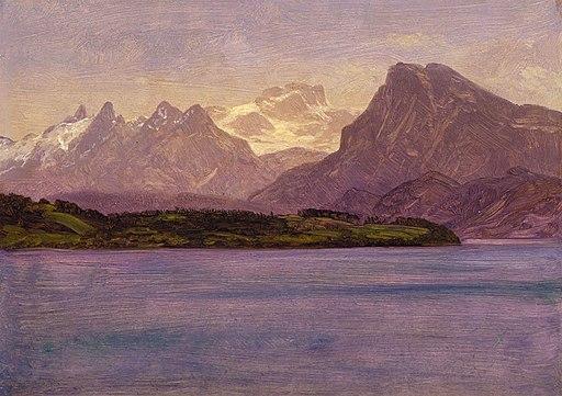 """Alaskan Coastal Range"" by Albert Bierstadt"