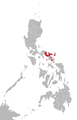 Bikol Sentral language map.png