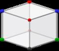 Bilinski dodecahedron, ortho obtuse.png