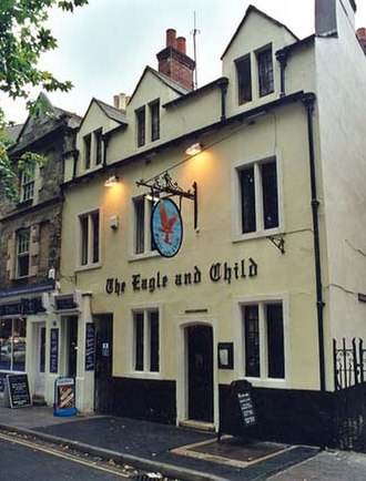 Inklings - The Eagle and Child pub (commonly known as the Bird and Baby or simply just the Bird) in Oxford where the Inklings met informally on Tuesday mornings during term.