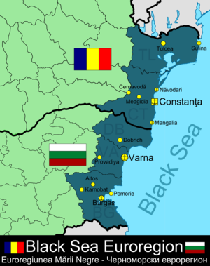 Black Sea Euroregion - Map of Black Sea Euroregion