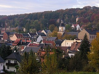 Hohenstein-Ernstthal Place in Saxony, Germany
