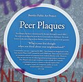 Blue plaques with a difference and these are Peer Plaques - geograph.org.uk - 1590314.jpg