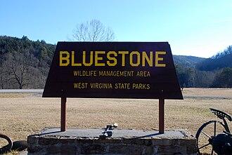 Bluestone Wildlife Management Area - Image: Bluestone Wildlife Management Area Sign