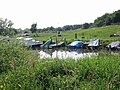 Boats moored on the N bank of the Stour upstream from Grove Ferry - geograph.org.uk - 460844.jpg