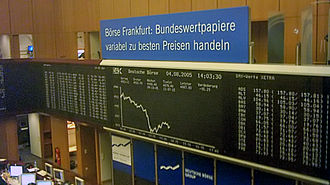 DAX - DAX 30 chart at the Frankfurt Stock Exchange.