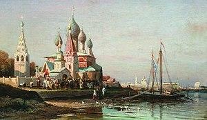 Yaroslavl - Alexey Bogolyubov. A Crucession in Yaroslavl, painted in 1863