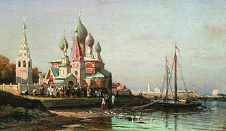 1863 in art - Image: Bogolubov Krestn hod v