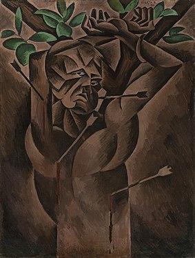 Bohumil Kubišta - Svatý Šebestián (1912).jpg