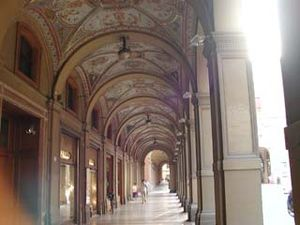 One of Bologna's famous porticos.