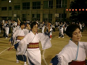 Rhythm Tengoku - The Bon Odori stage is based on the Japanese Bon Festival.