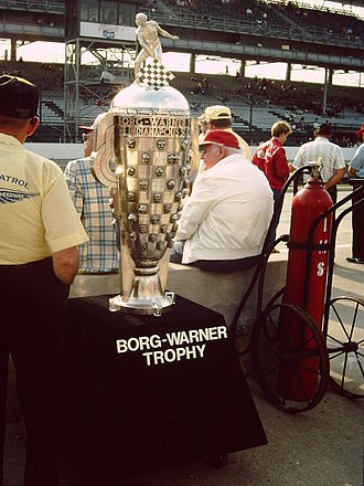 Borg-Warner Trophy - The Borg-Warner Trophy in its original form (without a base) on display in 1985.