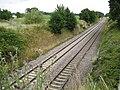 Bottlesford, Main railway line to London, 78 miles ahead - geograph.org.uk - 1398702.jpg