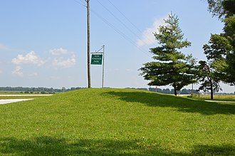 National Register of Historic Places listings in Clark County, Missouri - Image: Boulware mound in park