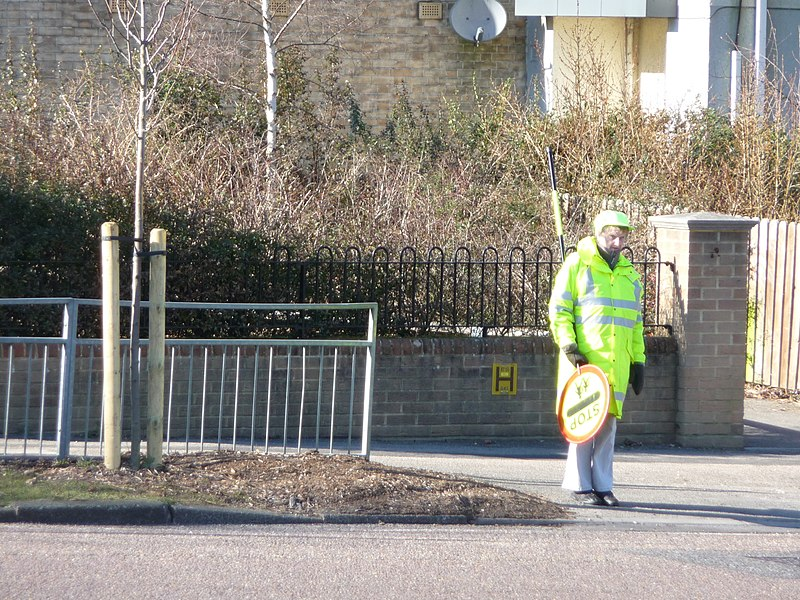 File:Bournemouth , Lollipop Lady on Moore Avenue - geograph.org.uk - 1746366.jpg