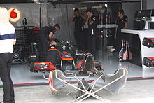 Photo du stand McLaren à Interlagos