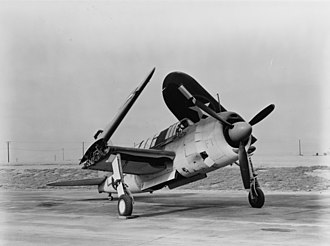 Brewster SB2A Buccaneer - A SB2A-3 with its wings folded and bomb bay open