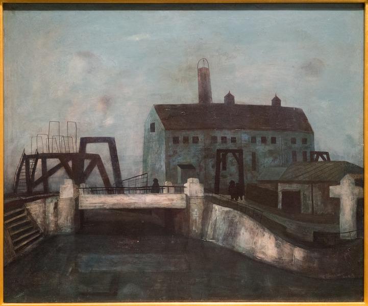 File:Bridge in Y-City by MATSUMOTO Shunsuke, 1943.tiff