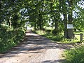 Bridleway on farm road to Vine Farm Barn - geograph.org.uk - 1389506.jpg