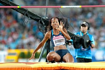 English: Brigetta Barrett during 2011 World ch...
