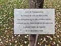 Brignais - Arbre de l'amitié Hirschberg (plaque).jpg