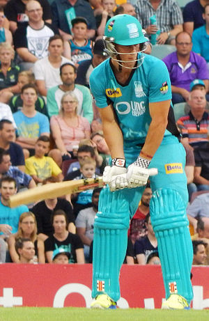 Chris Lynn - Lynn batting for the Brisbane Heat in December 2014