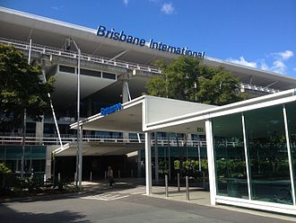 Brisbane Airport - The front of the Brisbane International terminal