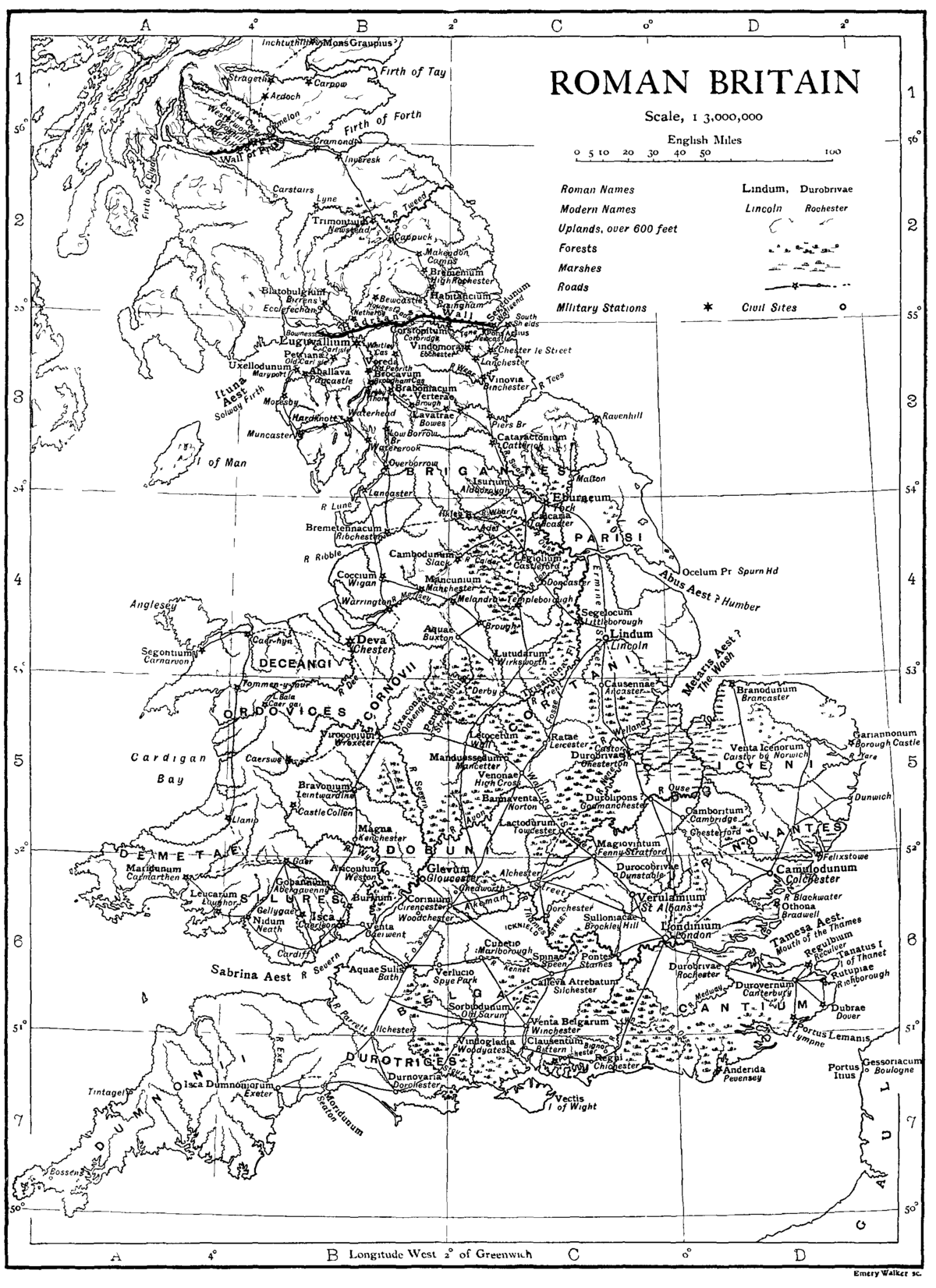 List Of Roman Place Names In Britain Wikipedia