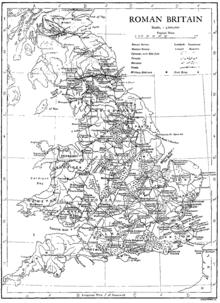 La provincia romana della Britannia.