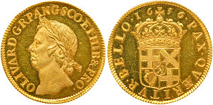Broad (English gold coin) - Broad of 1656.