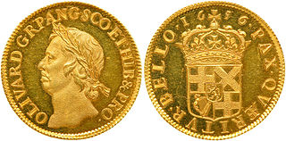 gold coin issued by the Commonwealth of England