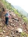 Broken Trail between Surke and Paiya after Earthquake.jpg