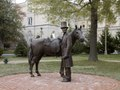 Bronze statue of Abraham Lincoln and his horse at the Lincoln Summer Home located on the grounds of the Armed Forces Retirement Home in northwest Washington, D.C LCCN2010630142.tif