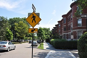 National Register of Historic Places listings in Brookline, Massachusetts - Image: Brookline MA Beacon Street Near Cleveland Circle