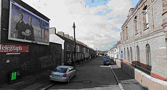 Shankill Butchers - The Shankill Butchers' last victim was killed off Brookmount Street (pictured), where Lenny Murphy owned a house