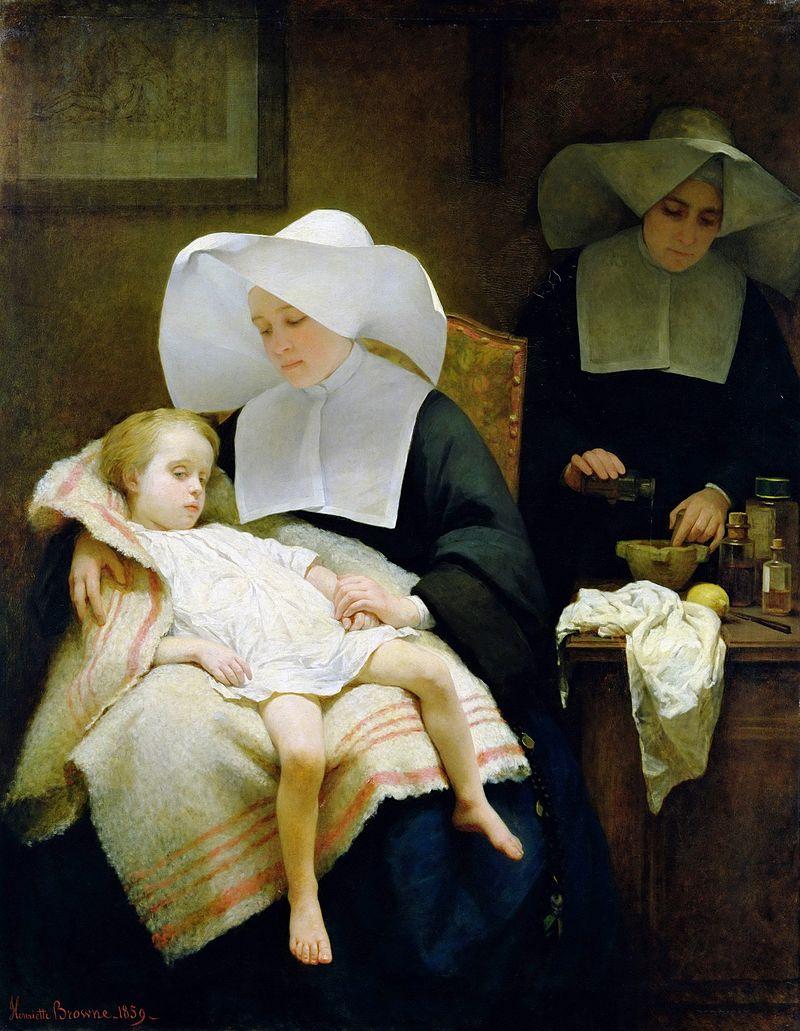 L'habit religieux 800px-Browne%2C_Henriette_-_The_Sisters_of_Mercy_-_1859