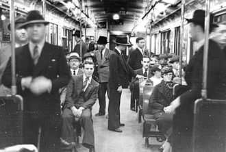 Buenos Aires Underground rolling stock - Interior of a Metropolitan Cammell car on Line B.