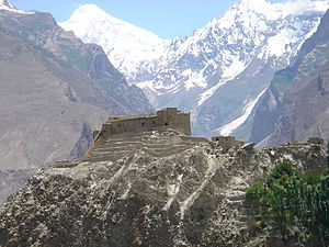 English: Buildings in Karimabad, Hunza Valley,...
