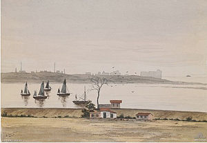 Étaples mutiny - Edwin Summerhayes' painting of Le Touquet from the Bull Ring