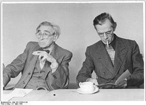 Bernhard Kellermann - Bernhard Kellermann and Professor Otto Nagel, Painter, president of the Academy of Arts