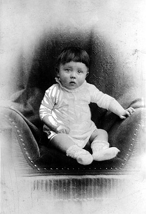 Adolf Hitler - Adolf Hitler as an infant (c. 1889–90)