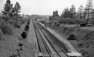 Burghclere - Remains of Burghclere railway station in 1963