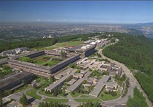 Aerial view of Simon Fraser University in Burn...